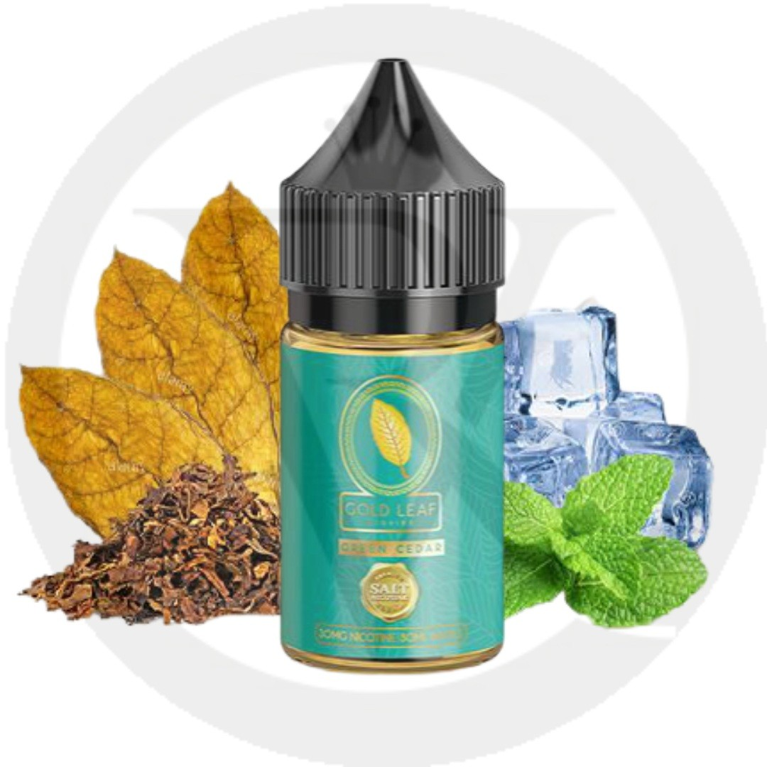 Gold leaf saltnic Green cedar 30ml best online shop UAE
