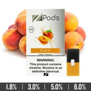 Peach Ziip Pods for Juul Devices