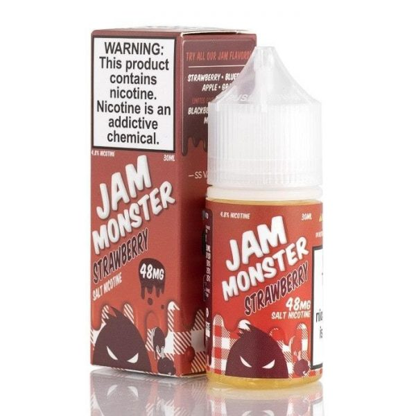 STRAWBERRY – JAM MONSTER SALTS E-LIQUID – 30ML