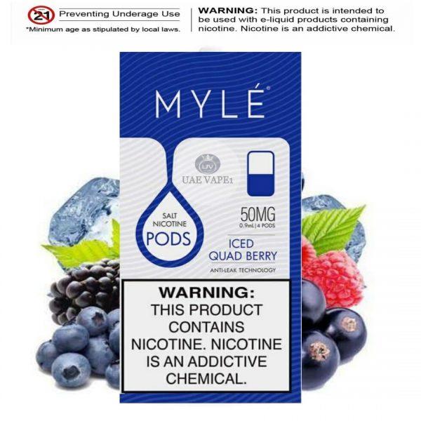 Myle v4 iced Quad berry Pods best online vape store in UAE