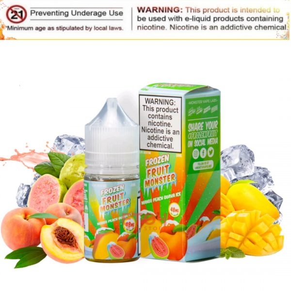 Mango peach guava ice (SaltNic) frozen fruit monster