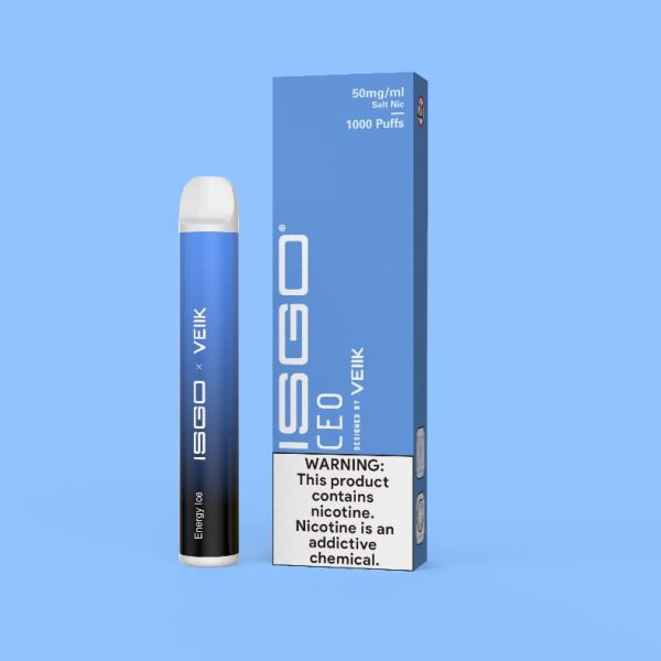 VEEIK ISGO ENERGY ICE DISPOSABLE VAPE 1000 PUFFS