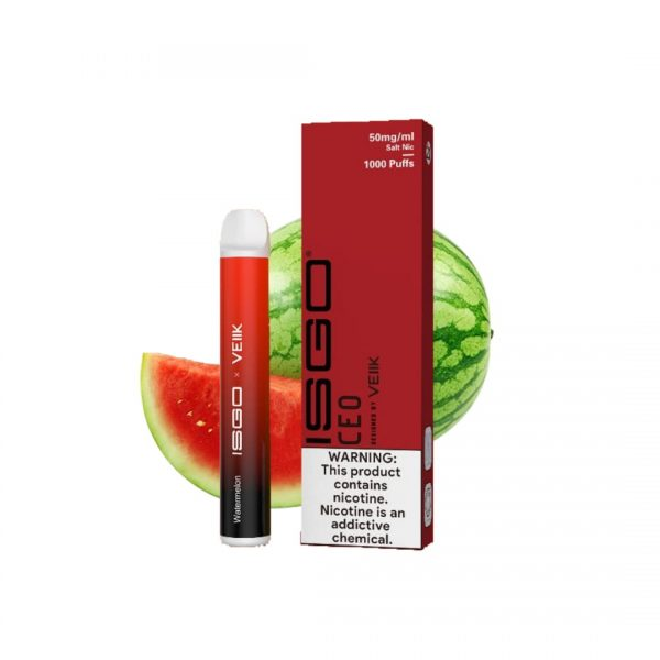 VEIIK ISGO WATERMELON DISPOSABLE VAPE 1000 PUFFS