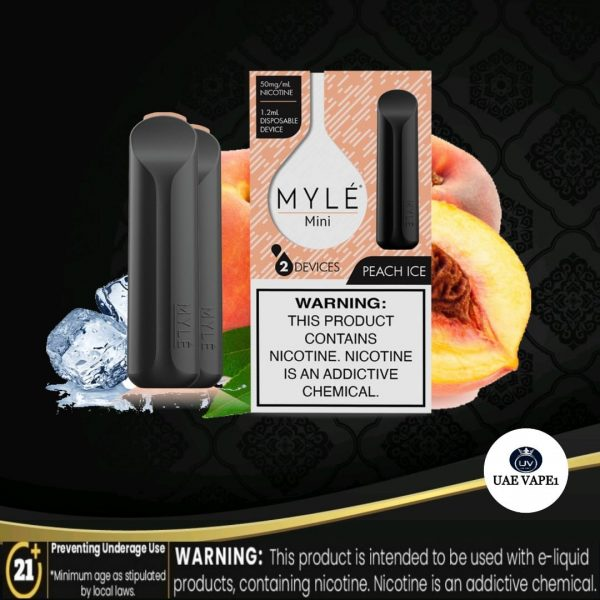 MYLE MINI DISPOSABLE POD PEACH ICE