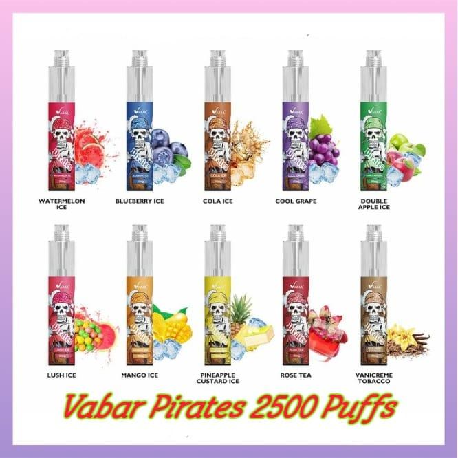 Vabar PIRATES Disposable Vape 2500 Puffs